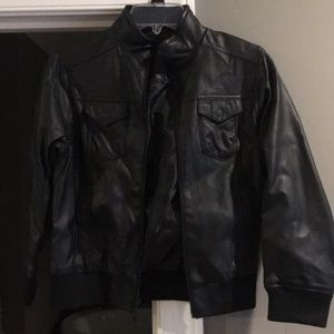 Boys leather jacket by Shaun white